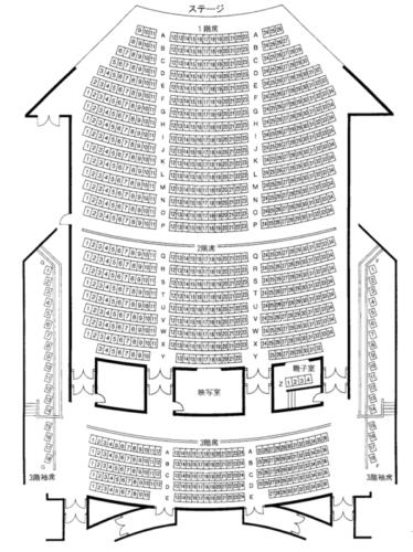 七飯町文化センター(まちづくり推進センター)の座席表・座席図