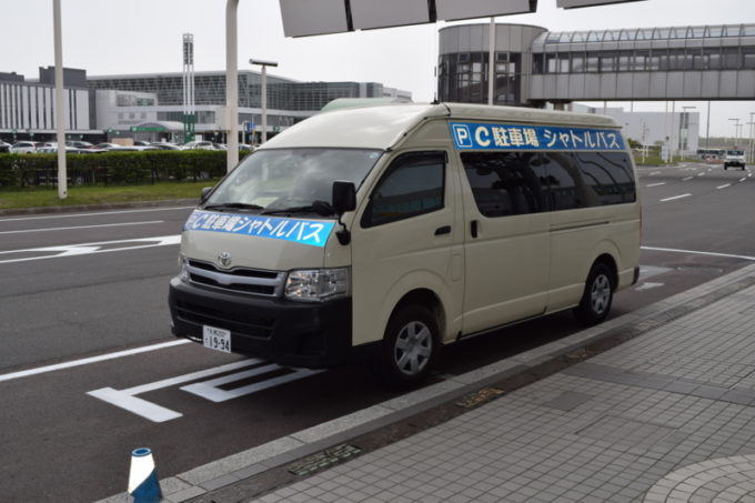 C駐車場のシャトルバス