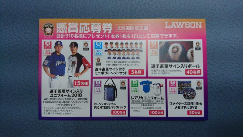 FIGHTERSスピードくじキャンペーン2018の応募券