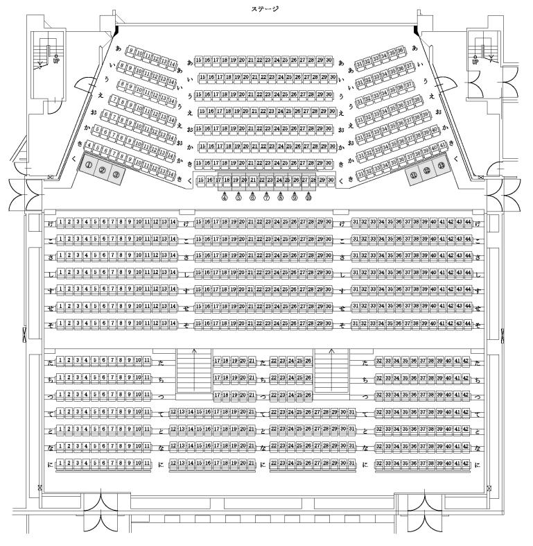 恵庭市民会館の座席表・座席図