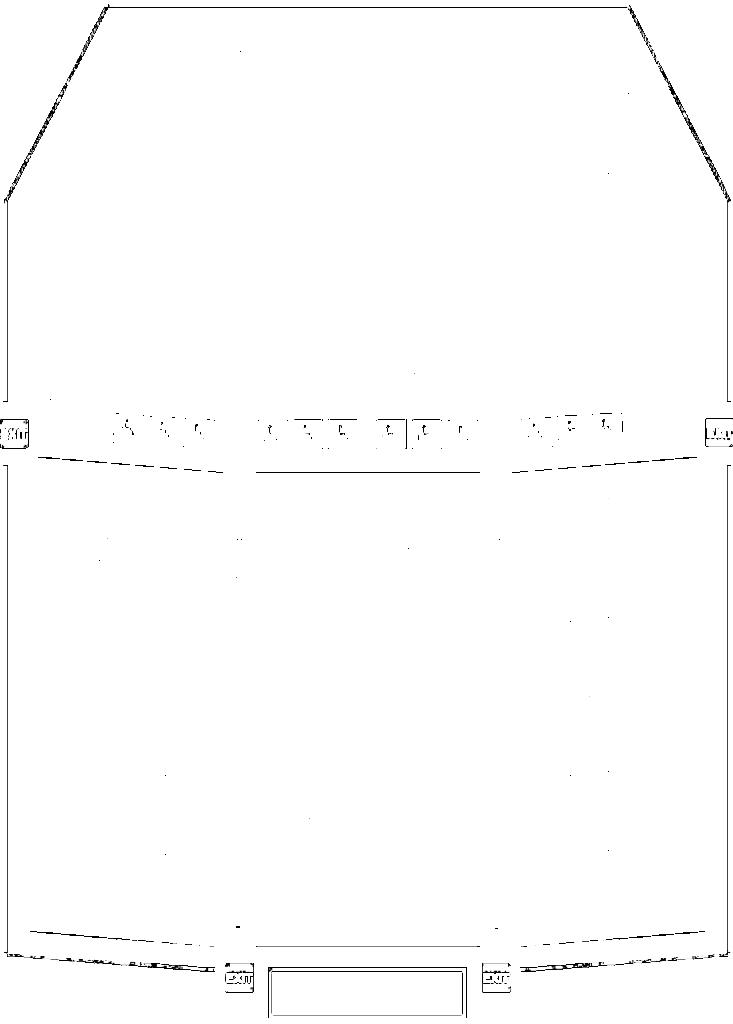 深川市文化交流ホールみらいの座席表・座席図