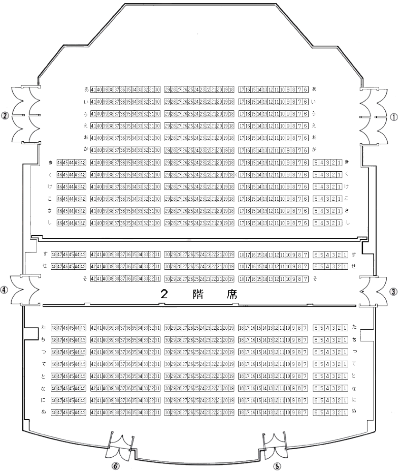 岩内地方文化センターの座席表・座席図
