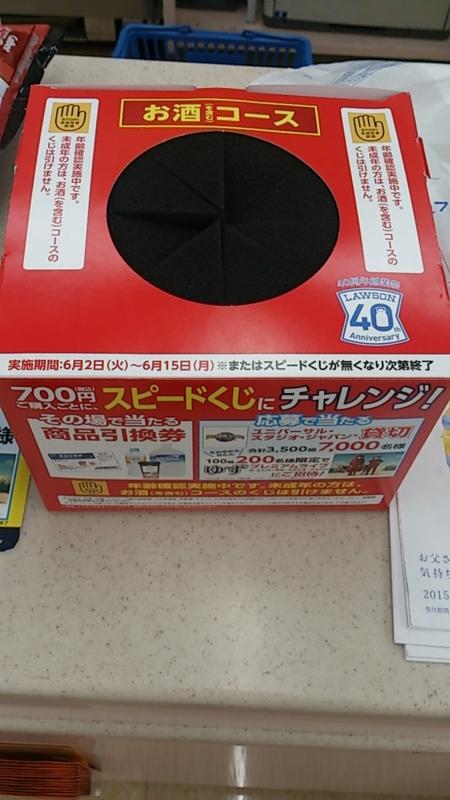700円スピードくじの抽選箱