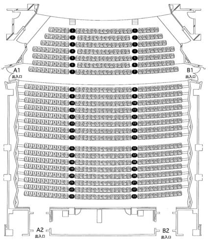 まなみーる(岩見沢市民会館・文化センター)の座席表・座席図