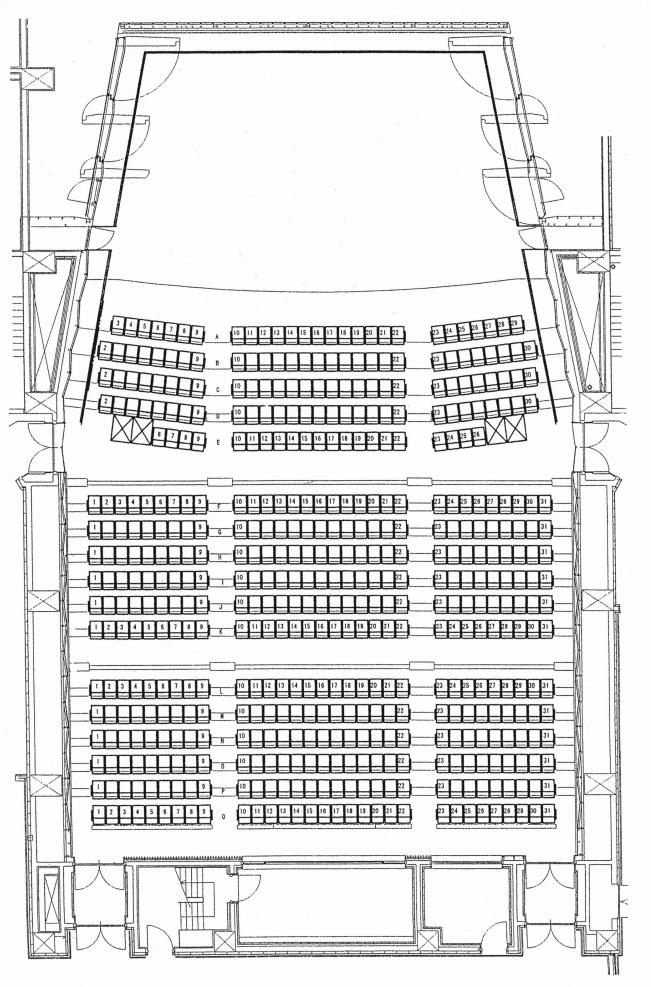 室蘭市市民会館の座席表・座席図