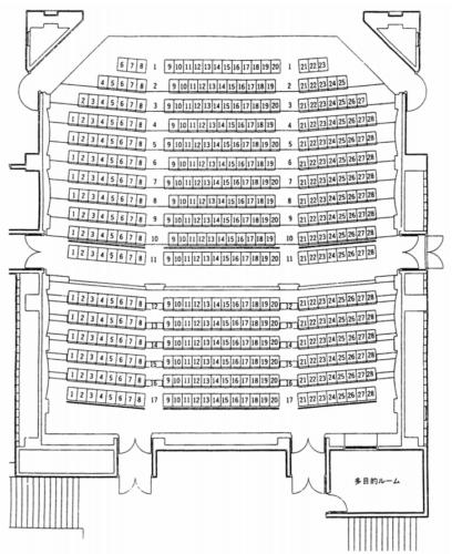 小樽市民センターの座席表・座席図