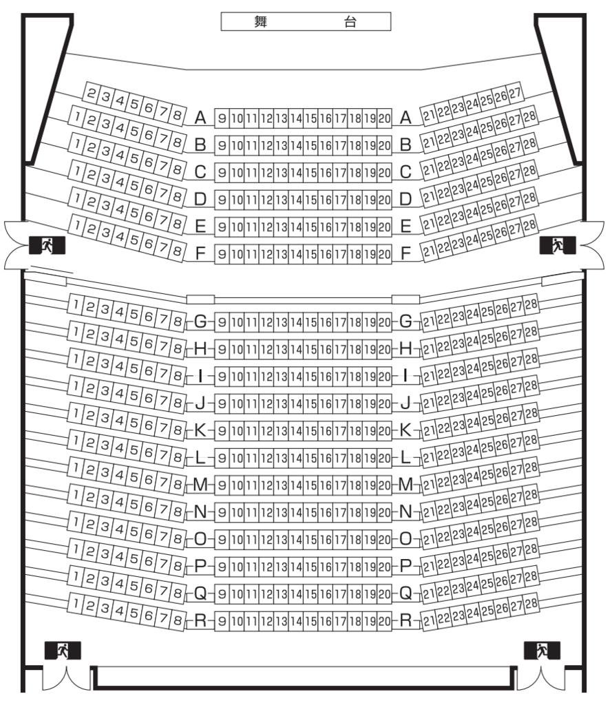 たかすメロディーホールの座席表・座席図