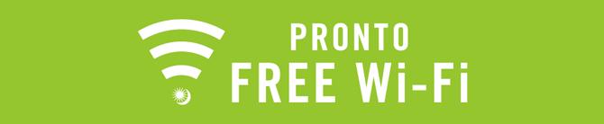 PRONTO FREE Wi-Fiロゴ