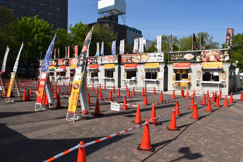 札幌ラーメンショー2019第1幕のラーメンブース