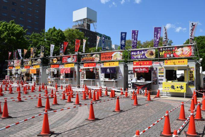 札幌ラーメンショー2019第2幕のラーメンブース