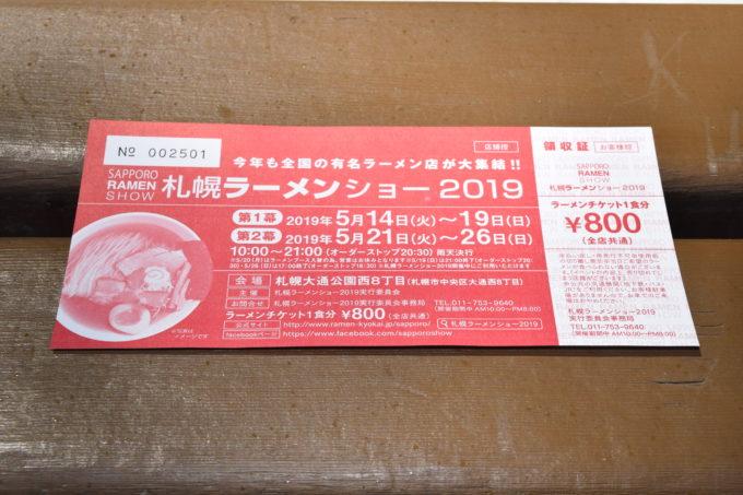 札幌ラーメンショー2019の当日券