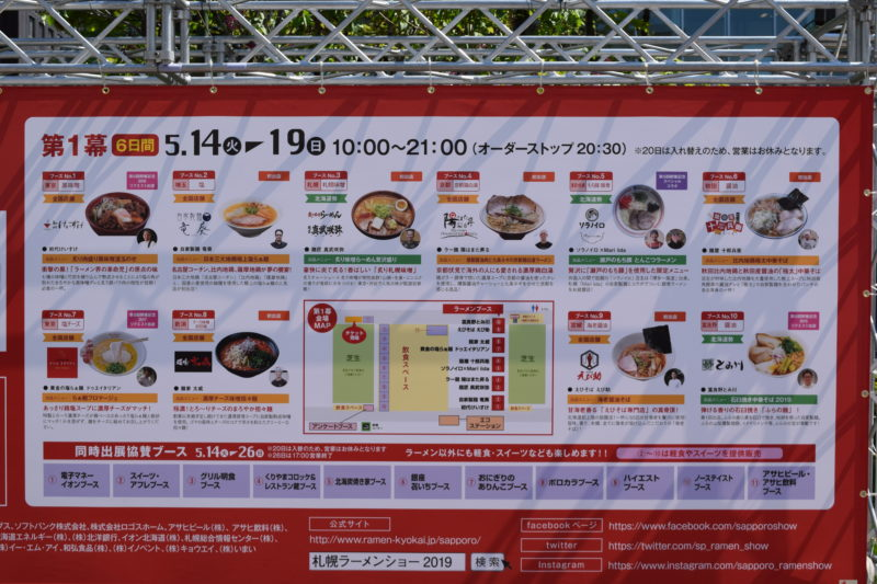 札幌ラーメンショー2019第1幕