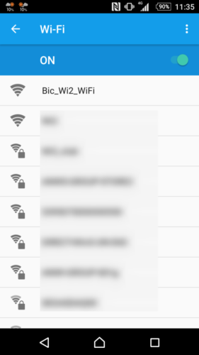 SSID「Bic_Wi2_WiFi」を選択。