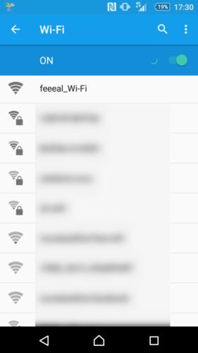 SSID「feeeal_Wi-Fi」を選択。