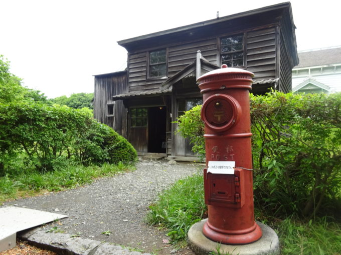 北海道開拓の村「投函口回転ポスト」