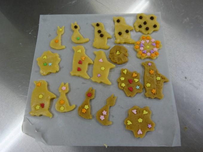 思い思いに作り上げたクッキー