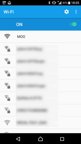 SSID「MOO」を選択。