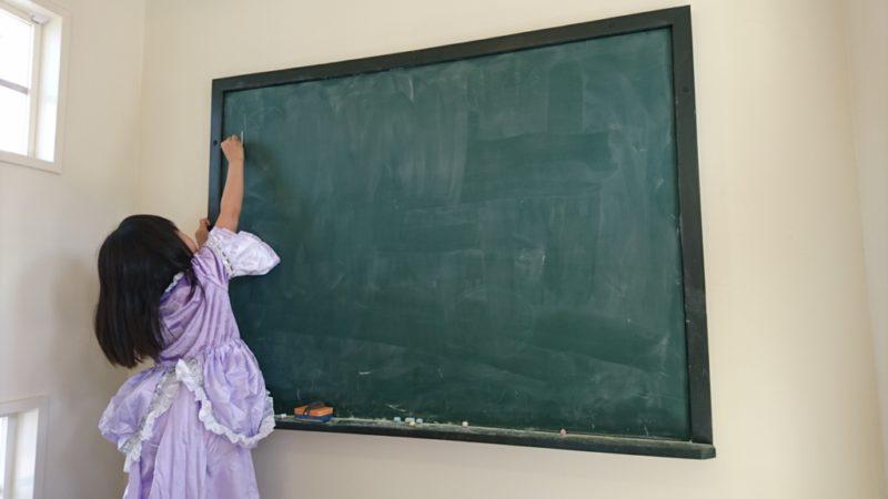 教室には黒板