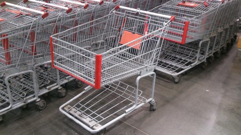 ショッピングカートのまま駐車場