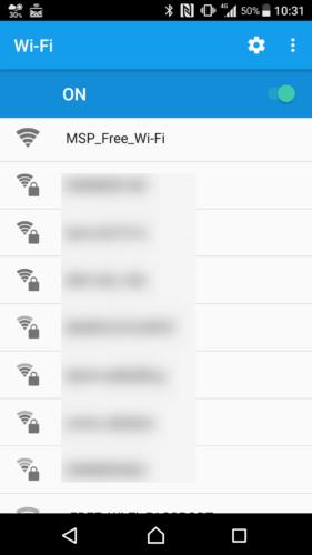 SSID「MSP_Free_Wi-Fi」を選択。