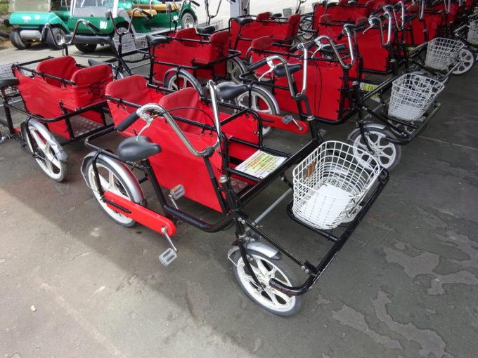 幼児専用席付きの4輪自転車