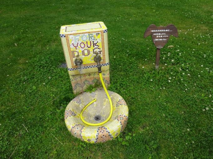 犬用の洗い場・水飲み場