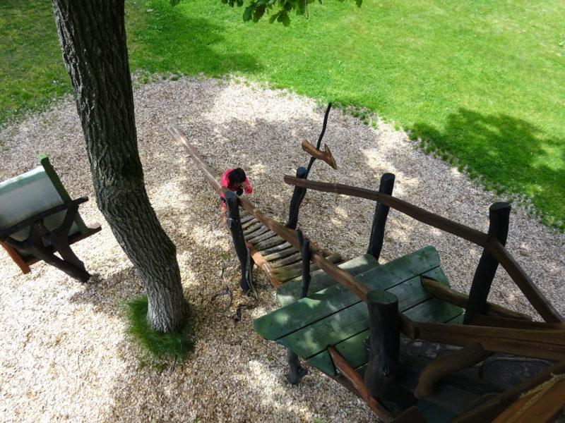 ツリーハウス内から見る階段