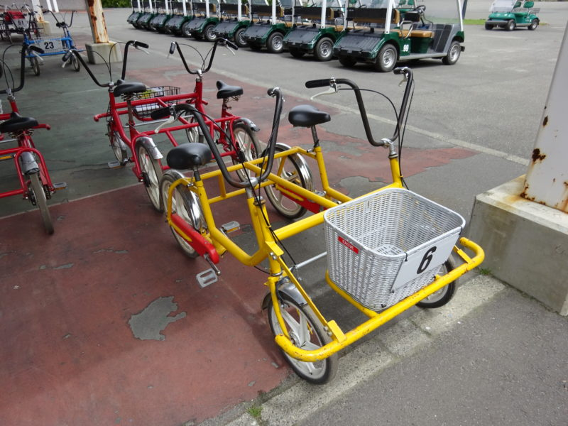 2人乗り用の4輪自転車
