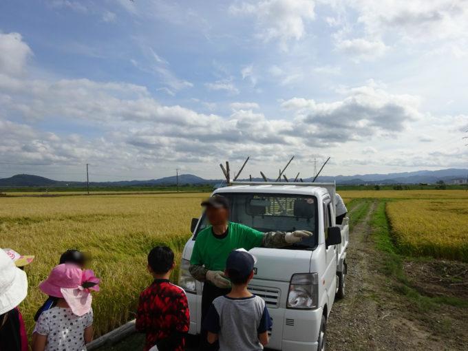 白石さんから新十津川のお米についてのお話。