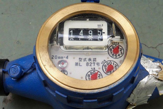 水道メーターで漏水チェック
