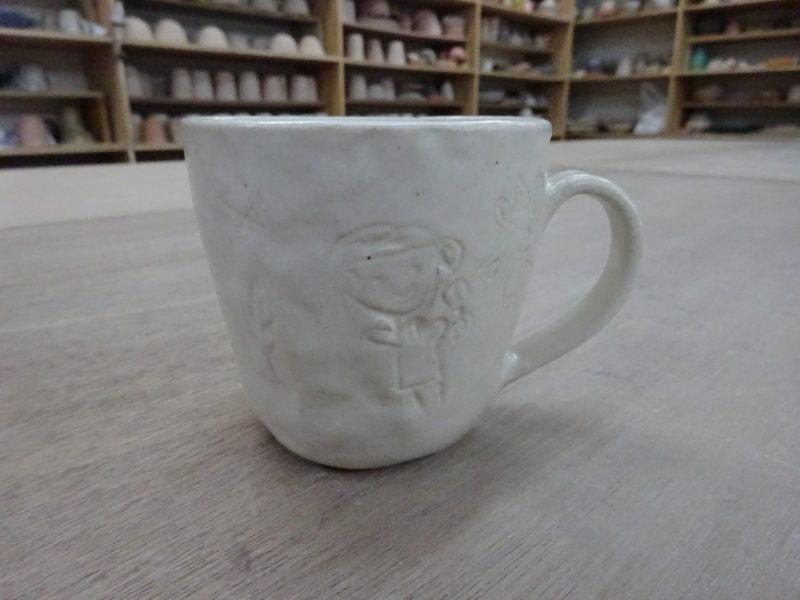 陶芸マグカップの完成品