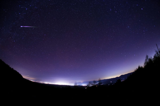 北海道で観測された火球
