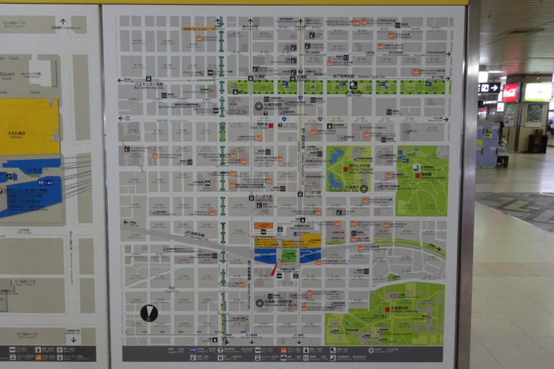 札幌駅周辺案内図