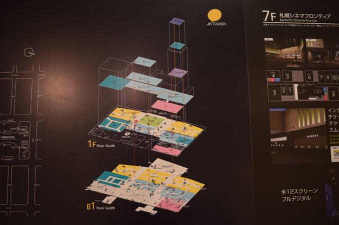 JRタワー立体構造図