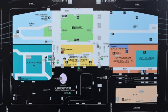 札幌駅及びJRタワー全体図