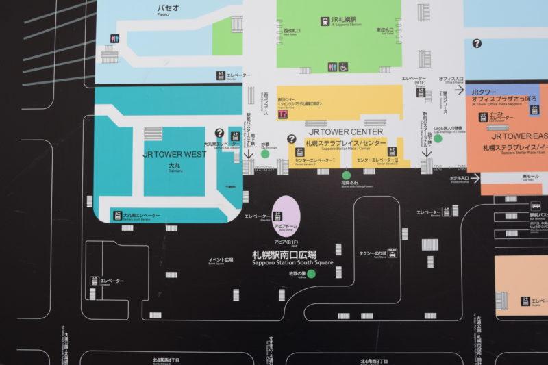 札幌駅南口周辺地図