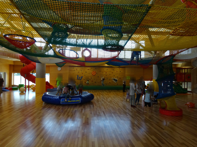1階部分の広い運動スペース