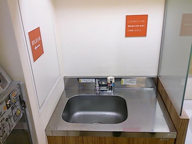 シンクはミルク専用の冷却・洗浄に利用