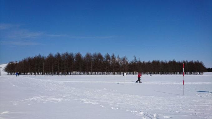モエレ沼公園の歩くスキーコース
