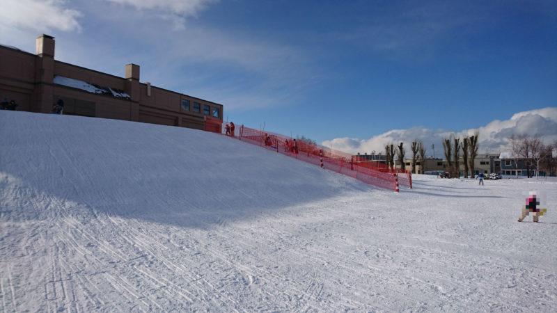 雪のスロープ(大)