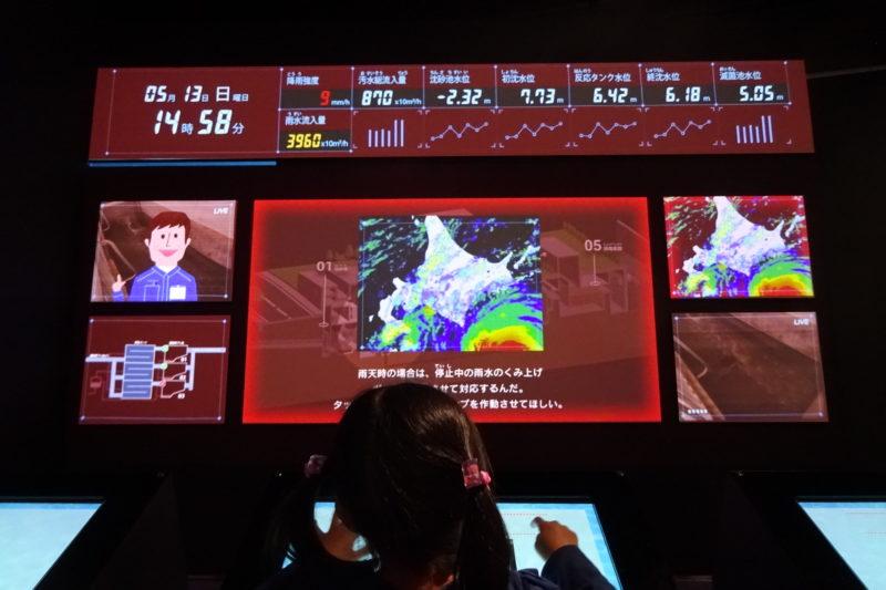 札幌市下水道科学館の運転管理マスター水再生プラザシミュレーション