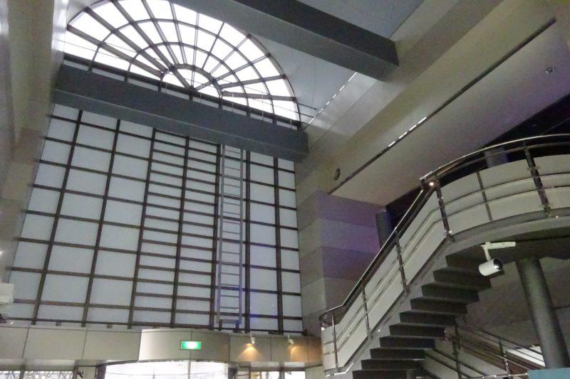 札幌市下水道科学館の1階と2階は吹き抜け