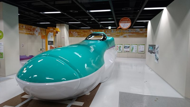 北海道新幹線H5系実物大のモデル展示