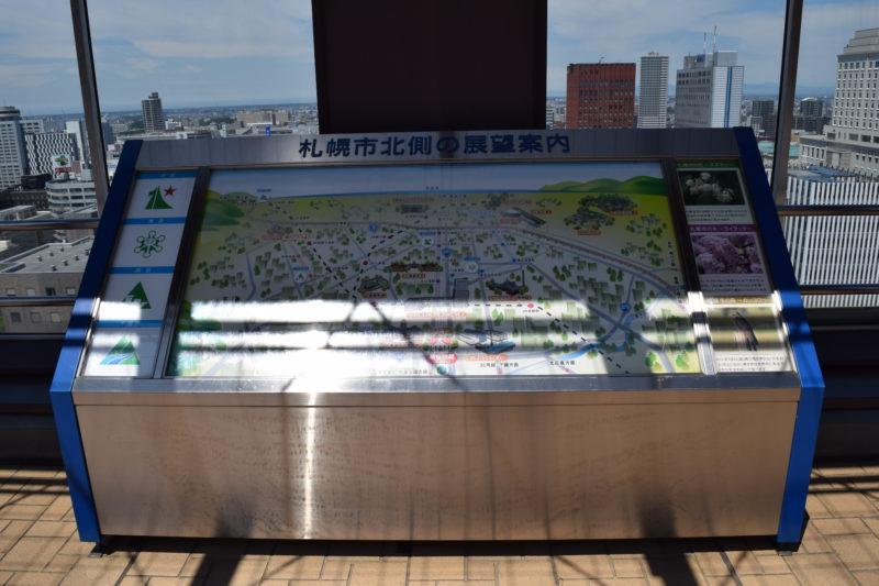 展望回廊北側の展望案内