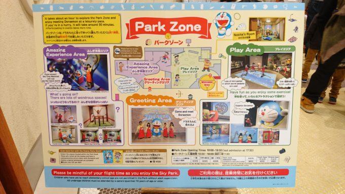 有料ゾーンは「プレイエリア」、「ふしぎ体験エリア」、「グリーティングエリア」の3つのエリア