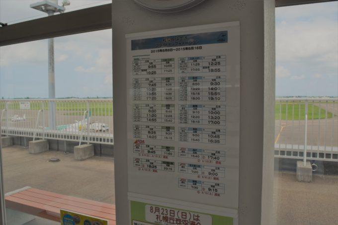 札幌丘珠空港のフライトインフォメーション