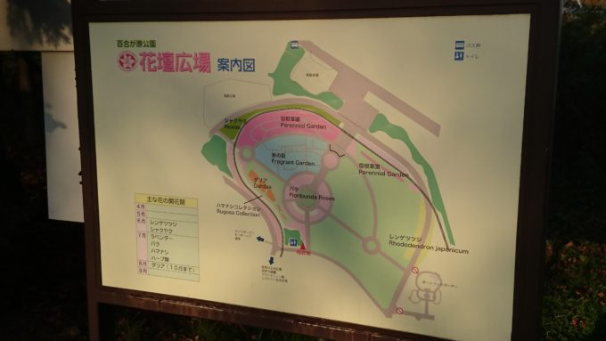 百合が原公園花壇広場地図