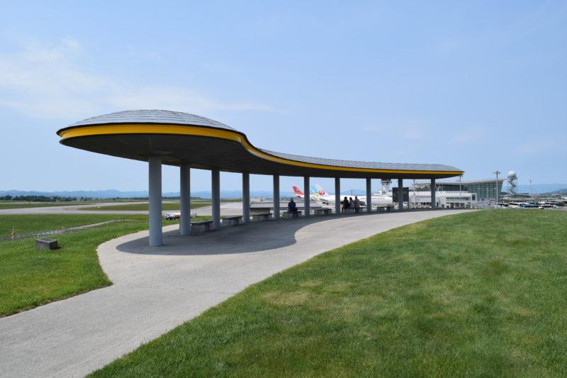 旭川空港公園グリーンポートの高台にある展望シェルター