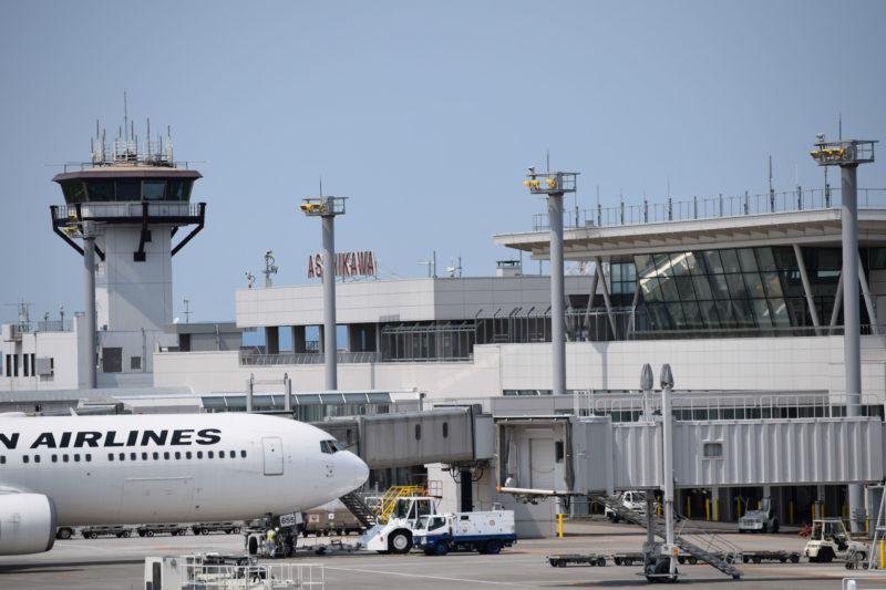 旭川空港3Fにある無料の展望デッキ
