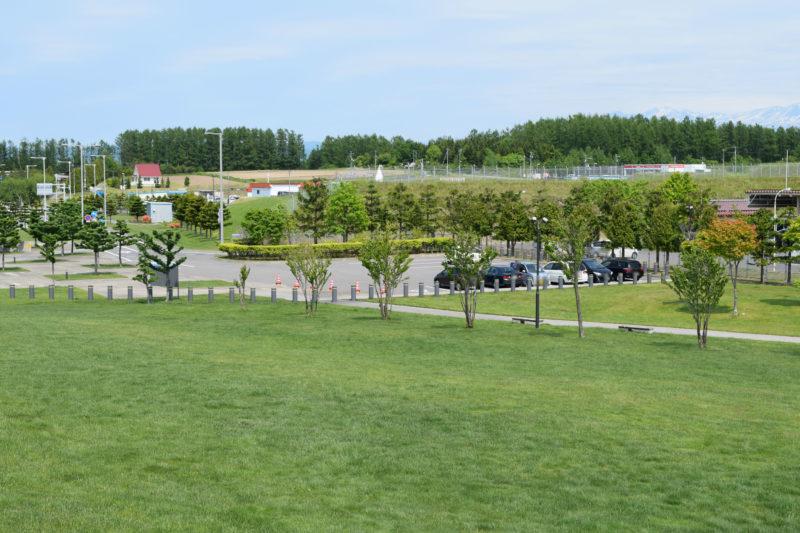 展望シェルターから見る駐車場